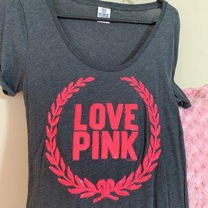 Gray Pink Brand SS Shirt